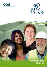 QCAT Annual Report 2010-11 cover